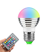 cheap -3W 270 lm E26/E27 LED Globe Bulbs Rotatable 1 leds High Power LED Dimmable Remote-Controlled RGB AC85-265