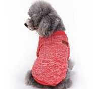 cheap -Cat Dog Coat Shirt / T-Shirt Dog Clothes Solid Colored Red Green Blue Pink Light Blue Polar Fleece Costume For Pets Men's Women's Cute