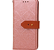 For iPhone X iPhone 8 iPhone 8 Plus Case Cover Wallet Card Holder with Stand Flip Embossed Pattern Full Body Case Flower Hard PU Leather