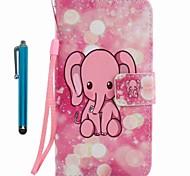 Чехол чехол карта держатель кошелек с подставкой флип-паттерн полный корпус с стилусом слон твердая кожа pu для яблока iphone 7 плюс 7 6s