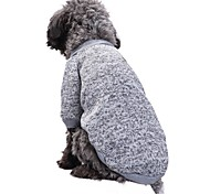 cheap -Cat Dog Coat Shirt / T-Shirt Sweatshirt Dog Clothes Solid Colored Red Green Pink Light Blue Blue and Navy Polar Fleece Cotton Costume For