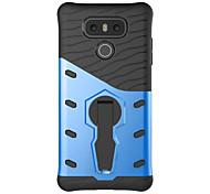 For G6 K20 Shockproof with Stand Case Back Cover Case Solid Color Hard PC LG K10 K8 K7 X Power