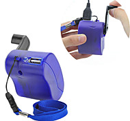 USB Hand Crank Manual Dynamo Cell Phone Charger Emergency For MP4 MP3 Mobile PDA-- Blue