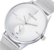 Damen Modeuhr Quartz Armbanduhren für den Alltag Legierung Band Minimalistisch Silber