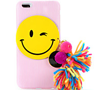 For IMD Case DIY Vertical Grain Smiling Face Colour Ball Small Bell Tassel Back Cover Case Soft TPU for Apple iPhone 7 7 Plus 6s 6 Plus