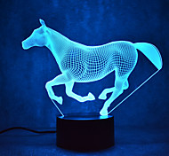 Horse Touch Dimming 3D LED Night Light 7Colorful Decoration Atmosphere Lamp Novelty Lighting Light