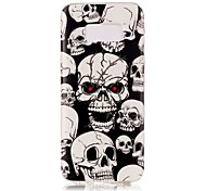 cheap -Case For Samsung Galaxy S8 Plus S8 Glow in the Dark IMD Pattern Back Cover Skull Soft TPU for S8 Plus S8 S7 edge S7 S6 edge S6 S5