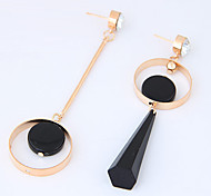 Women's Drop Earrings Mismatch Fashion Euramerican Resin Alloy Circle Jewelry For Daily