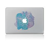 Недорогие -1 ед. Защита от царапин Цветы Прозрачный пластик Стикер для корпуса Узор ДляMacBook Pro 15'' with Retina MacBook Pro 15 '' MacBook Pro