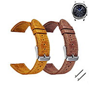 cheap -Watch Band for Gear S3 Frontier Gear S3 Classic Samsung Galaxy Sport Band Classic Buckle Leather Wrist Strap