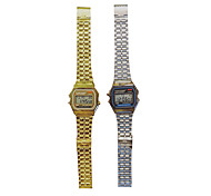 Women's Fashion Watch Quartz Alloy Band Silver Gold Alarm clock electronic watch