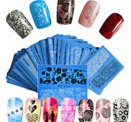 cheap -48pcs/set Water Transfer Sticker Nail Sticker Nail Art DIY Tool Accessory Nail Decals Nail Art Design