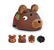 Kids Bike Helmet  Children's Safety Bicycle Helmet Cycling Helmet Child Size  Cycling  Sport Helmet Brown Bear