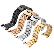 cheap -For SUUNTO CORE Tools Stainless Steel Watchband Solid Metal Watch Bracelet Strap Double Insurance Buckle 24mm