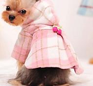 Dog Coat Dog Clothes Cute Fashion Color Block Blushing Pink Light Blue