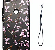 Недорогие -Для huawei p8 lite (2017) p10 футляр обложки цветочный узор впрыск топлива облегчение обшивка кнопка толще тпу материал чехол для телефона