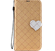 cheap -For Nokia 6 Case Cover The New Grid Pattern Pattern Love Buckle PU Material Hit Color Phone Case