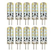 cheap -HKV 10pcs 2W 100-200 lm G4 LED Bi-pin Lights T 24 leds SMD 3014 Warm White Cold White DC 12V AC 220-240V