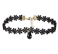 cheap -Women's Lace Choker Necklace - Dangling Style Basic Multi-ways Wear Drop Black Necklace For Wedding Anniversary Birthday Thank You
