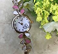 Women's Bracelet Watch Simulated Diamond Watch Fashion Watch Wrist watch Chinese Quartz / Imitation Diamond Alloy Band Casual Rose Gold