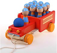 Недорогие -Игрушечные машинки Конструкторы Детский боулинг Боулинг Обучающая игрушка Игрушки Автомобиль Пожарные машины Дерево Детские Куски