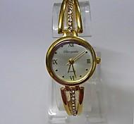 Women's Women Bracelet Watch Quartz Alloy Band Sparkle Casual Gold