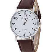 Women's Casual Watch Fashion Watch Wrist watch Quartz PU Band Charm Luxury Creative Casual Elegant Minimalist Cool Black White Brown