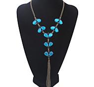 Жен. Ожерелья с подвесками Воротничок Y-ожерелья Бижутерия Бижутерия Акрил Сплав Базовый дизайн Стразы Природа Дружба США Мода Свадьба