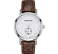 cheap -KINGNUOS Men's Fashion Watch Wristwatch Quartz Leather Band Cool Casual Classic Business Watches