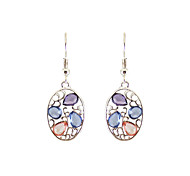 cheap -Women's Drop Earrings Jewelry Acrylic Personalized Unique Design Classic Tag Hypoallergenic Fashion Alloy Oval Jewelry Christmas Gifts