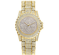 cheap -Women's Quartz Wrist Watch Chinese Cool Stainless Steel Band Casual / Fashion Silver / Gold