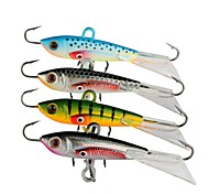 """4 pcs Metal Bait Jigs Fishing Lures Jigs Metal Bait Jig Head Assorted Colors g/Ounce,60 mm/2-3/8"""" inch,Lead Metal Stainless Steel / Iron"""
