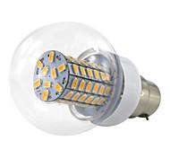 6W B22 LED Globe Bulbs 69 leds SMD 5730 500-550lm Warm White Cold White