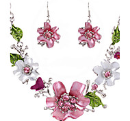 Women's Drop Earrings Necklace Crystal Dangling Style Bohemian Petals Fashion Adorable Cute Style Party Special Occasion Anniversary