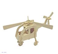 Недорогие -3D пазлы Пазлы Деревянные пазлы Модель дерева Вертолет Игрушки Вертолет 3D Дерево Универсальные Куски