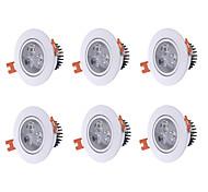 250 Downlight de LED Branco Quente Luz de Decoração LED 6 pçs