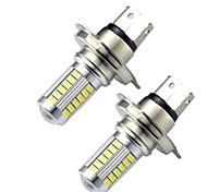 2шт h4 5630 33smd светодиодные фонари стоп-сигнала поворота автомобиля drl вождение лампа белого цвета автолампы dc12-24v