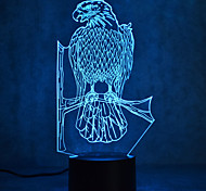Eagle Touch Dimming 3D LED Night Light 7Colorful Decoration Atmosphere Lamp Novelty Lighting Light