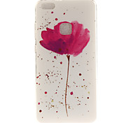 For Huawei P8 Lite (2017) P10 Case Cover A Flower Pattern HD Painted TPU Material IMD Process Phone Case P10 Lite Honor 6X Y5 II Y6 II
