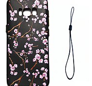 For Samsung Galaxy S8 Plus S8 Case Cover Peach Blossom Pattern Fuel Injection Relief Plating Button Thicker TPU Material Phone Case S7 S6 Edge