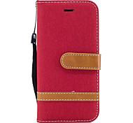 Недорогие -Для яблока iphone 7 7 плюс 6s 6 плюс se 5s 5 обложка чехла джинсовая модель сшивание цвет карта стент pu материал чехол для телефона
