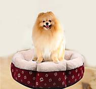 Cat Dog Bed Pet Mats & Pads Cartoon Soft Red For Pets