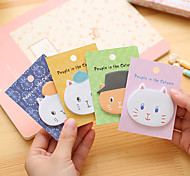 Angora Cartoon Cats Self-Stick Notes 1 PCS Random Color