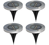Pack of 4 Solar Ground Light for Garden Landscape Lighting Pathway Stairway