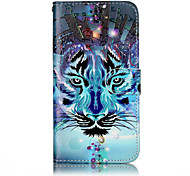 cheap -Case For Huawei P9 Lite Huawei Huawei P8 Lite Card Holder Wallet with Stand Flip Pattern Embossed Full Body Cases Animal Hard PU Leather