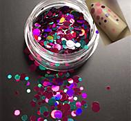 1bottle моды сладкий стиль красочные ногтей блеск блестка круглый ломтик сладкий DIY красоты украшения p11