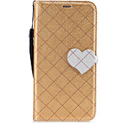 For Huawei P8 Lite (2017) P10 Case Cover The New Grid Pattern Pattern Love Buckle PU Material Hit Color Phone Case P10 Lite Mate 9 P9 Lite Honor 6X