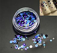 1bottle моды DIY красоты круглый ломтик ногтей лазерный блеск круглый блестка украшения P19