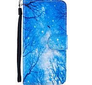 Недорогие -Назначение iPhone 8 iPhone 8 Plus Чехлы панели Кошелек Бумажник для карт со стендом Флип Магнитный С узором Чехол Кейс для дерево Твердый