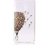 cheap -Case For Nokia Transparent Pattern Embossed Back Cover Balloon Soft TPU for Nokia 6